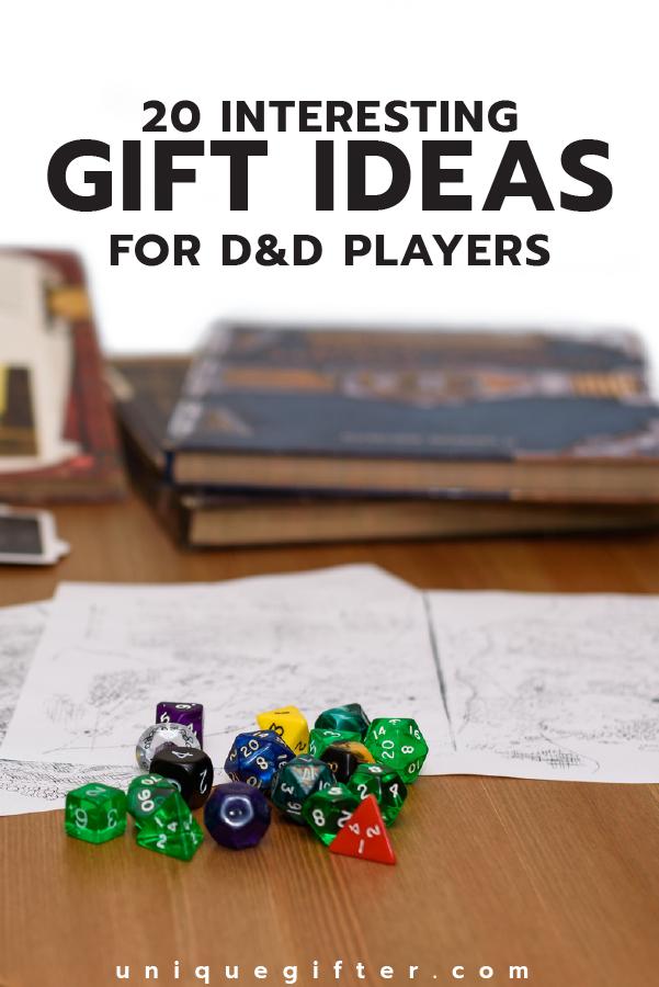 Interesting Gift Ideas For Dd Players Craftsdiy Pinterest