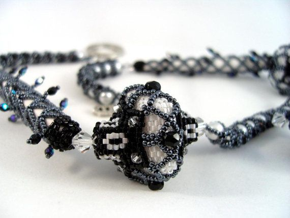 Sea Urchins and Stilettos - Beaded Necklace on Etsy, $320.00