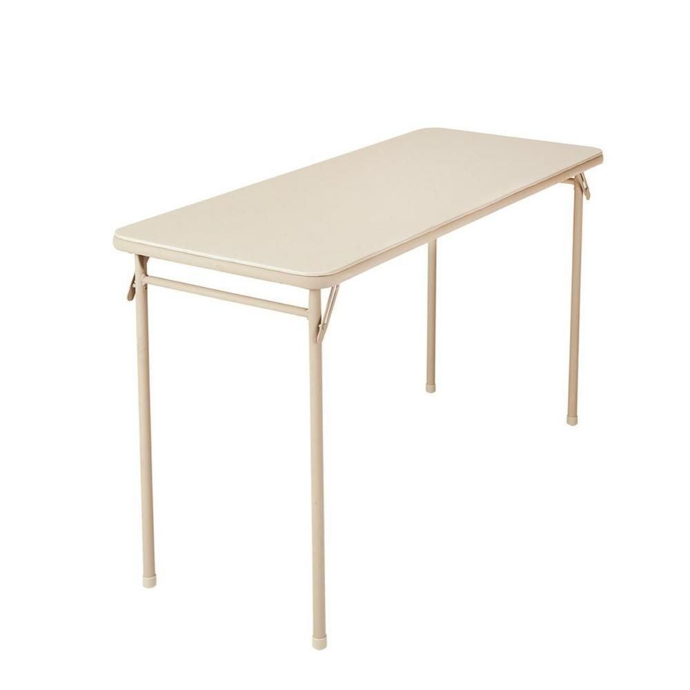 Cosco 48 In Antique Linen Plastic Folding High Top Table