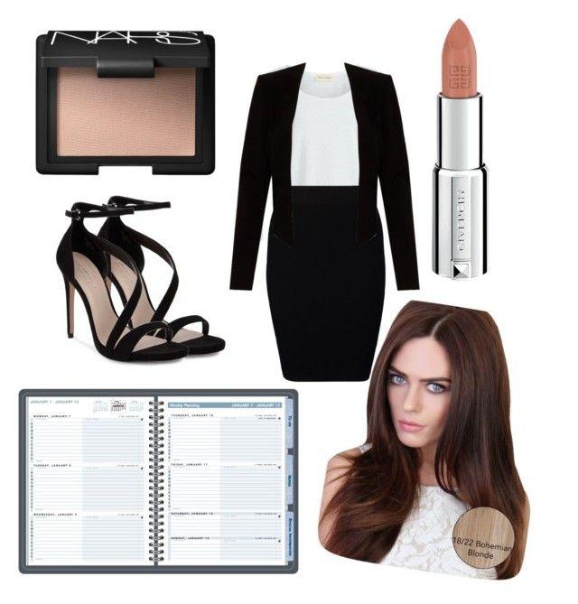 """Secretary"" by marvelfaith ❤ liked on Polyvore featuring beauty, American Vintage, Just Female, Alice + Olivia, Carvela, Lipsy, Givenchy and NARS Cosmetics"