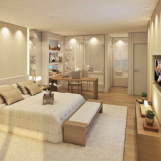 Chambres | Une chambre moderne | #chambres, #décoration, #luxe ...