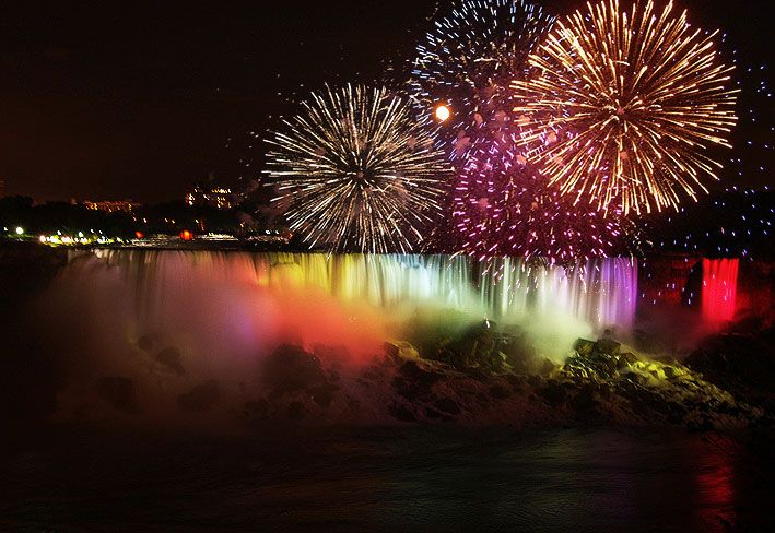 Image result for fireworks at niagara falls