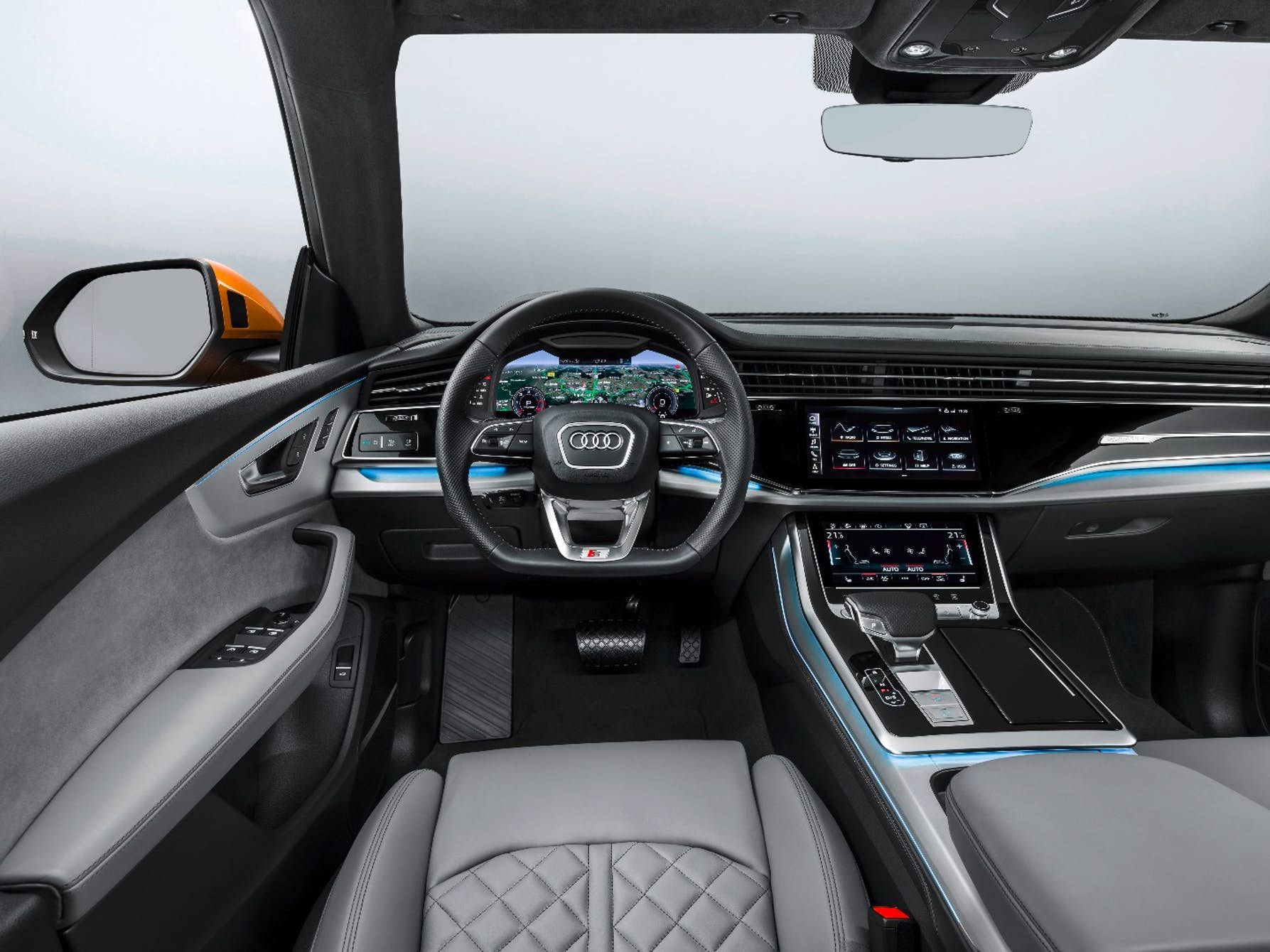 The Interior Of The Audi Q8 Looks Really Good And Well Laid Out Audi Audi Suv Renault Megane
