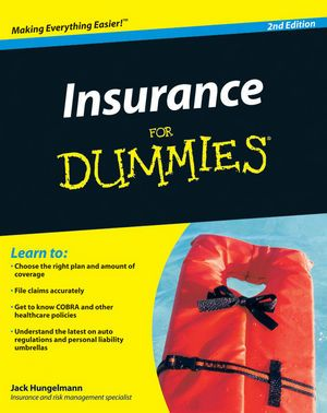 Insurance For Dummies 2nd Edition Book Information For Dummies