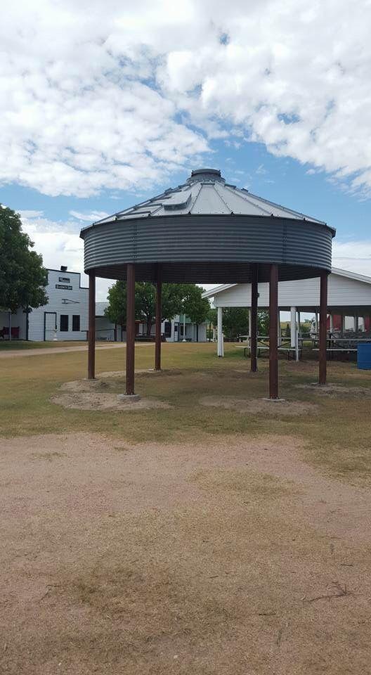 Grain Bin Gazebo Shelter Industrial Design Fire Pit
