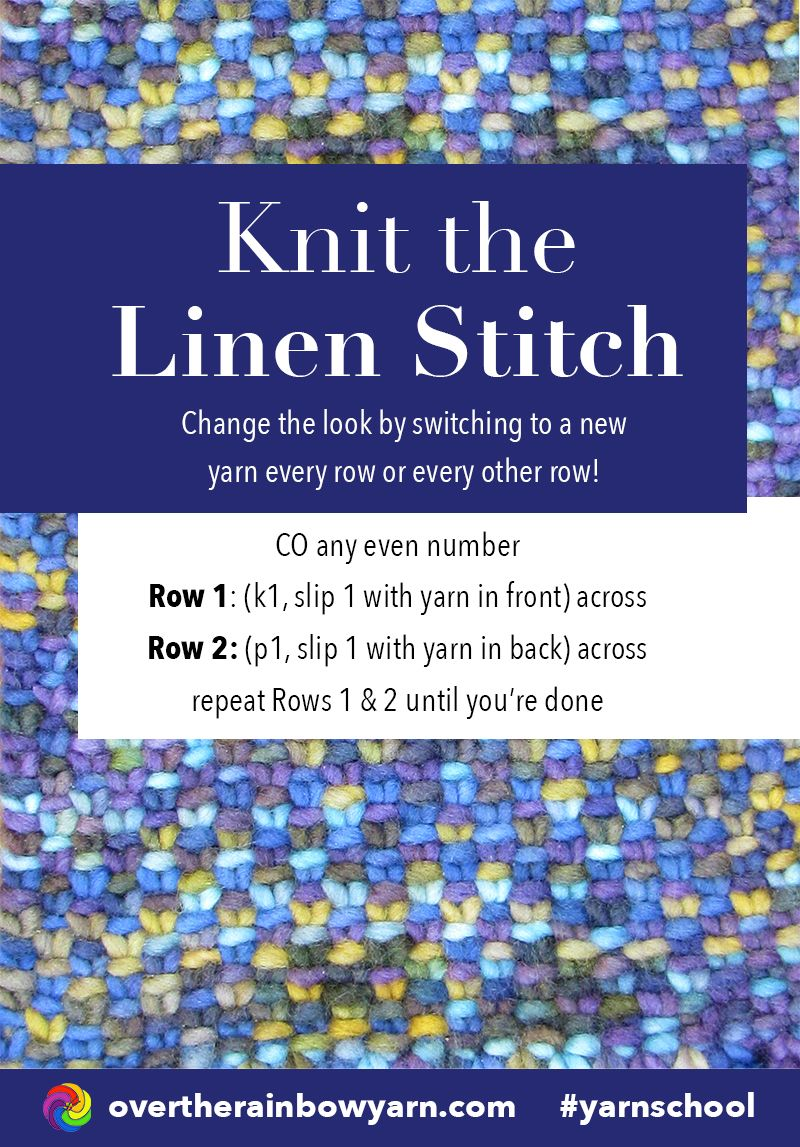 How to Knit the Linen Stitch, from Yarn School by Over the Rainbow ...