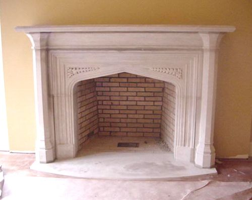 Deep relief English Tudor Fireplace with amazing detail (see ...