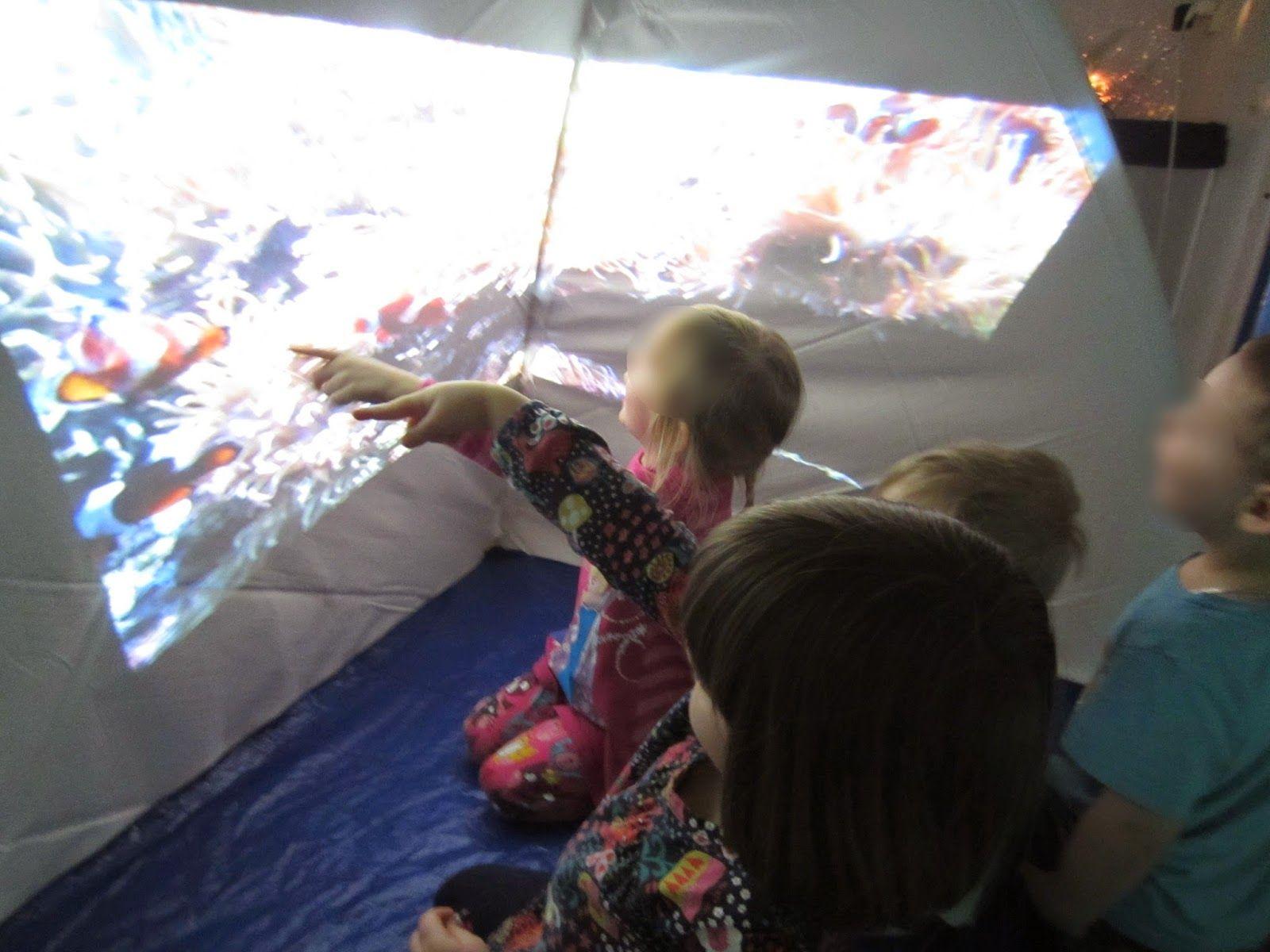 Projecting onto a tent-Syrenen Toreboda Blog: Inspired via Facebook!