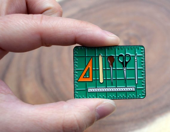 Bookbinding Tools Enamel Pin for Book Artists in 2019