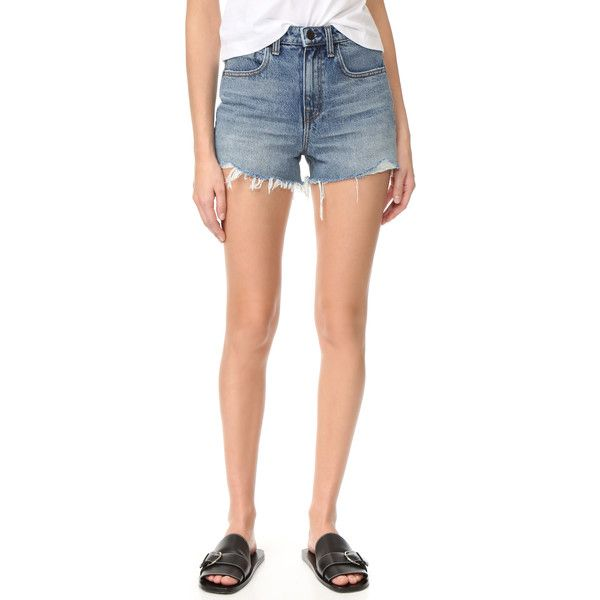 fe8a676763a Denim x Alexander Wang Bite Shorts ( 200) ❤ liked on Polyvore featuring  shorts
