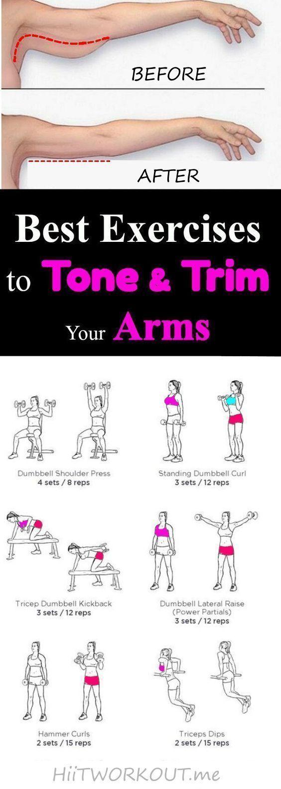Beste Übungen zum Straffen und Trimmen der Arme: Das beste Training, um schlaffe Arme für Frauen und...