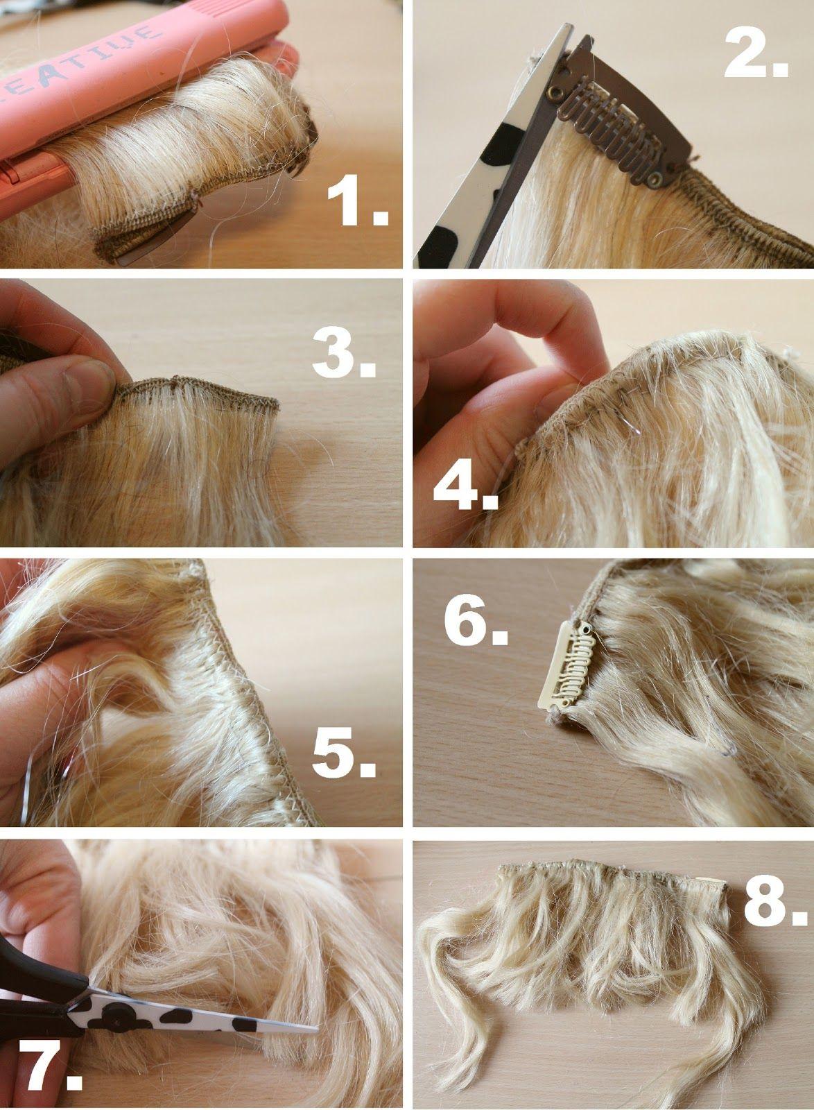 Diy Clip In Bangs Guest Post Diy Hair Extension Clips Hair Extension Clips Diy Hair Extensions