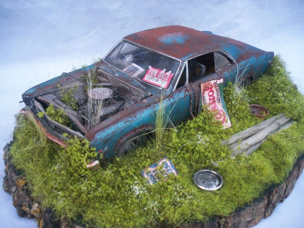 1967 Chevelle SS 396 Barn Find Weathered Pro Built Diorama Revell 1 25 Plastic