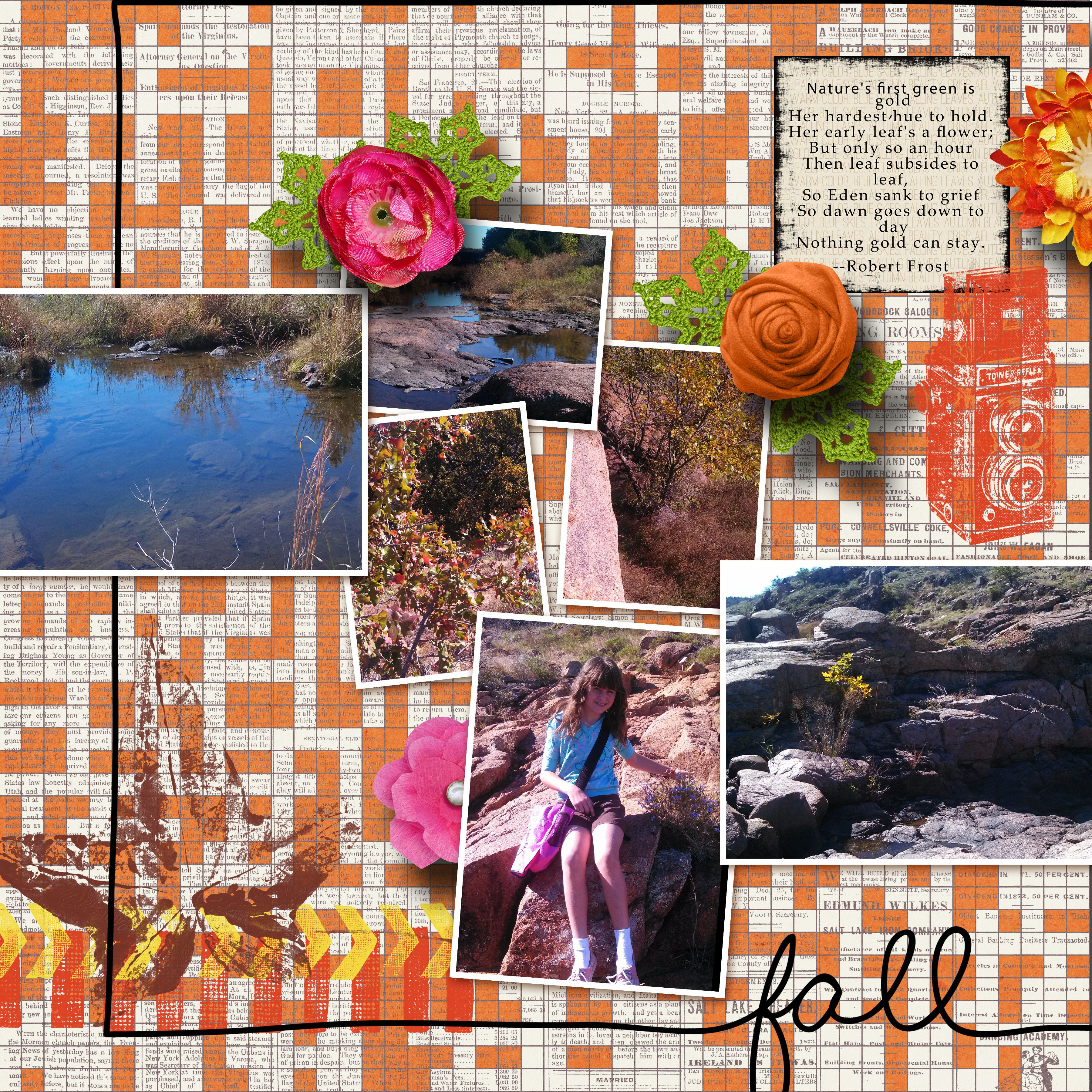 Kit used:  The Lilypad Collaboration Capturing Fall.  Template Pixelscrapper 349.