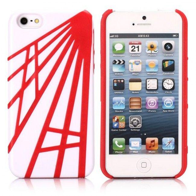 WEB (Punainen) iPhone 5 Suojakuori - http://lux-case.fi/web-punainen-iphone-5-suojakuori.html