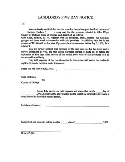 printable sample eviction letter form real estate forms online