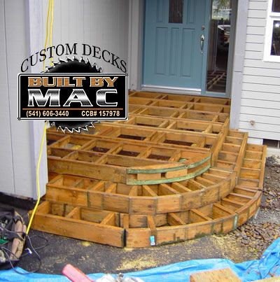 Bon Round Deck With Wrap Around Stairs   Decks U0026 Fencing   Contractor Talk  Front Porch Deck