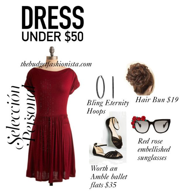 """""""Lady in Red"""" by glinda659 ❤ liked on Polyvore featuring Bling Jewelry, Anna-Karin Karlsson and Dressunder50"""