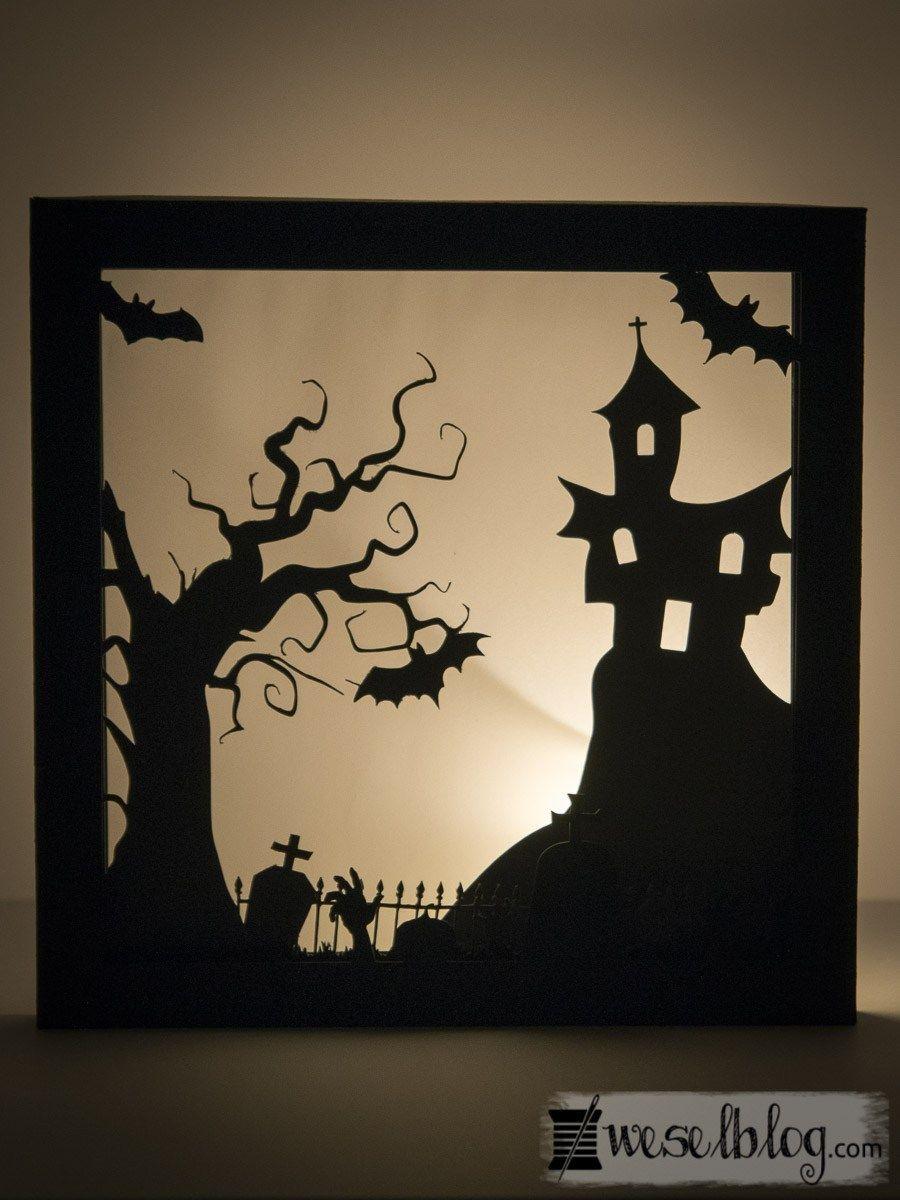 3D Papierbild - Halloween-Edition   Halloween ideen ...