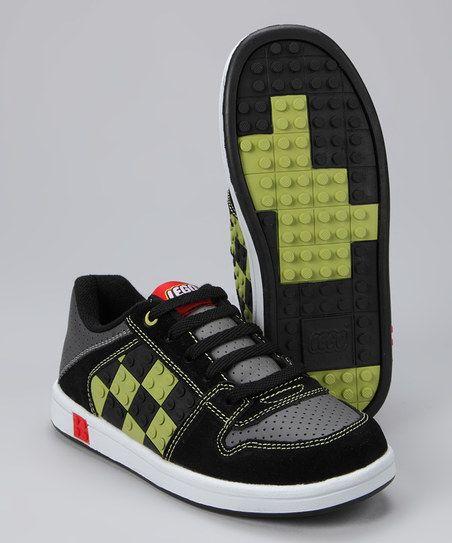 Black & Lime Concrete Sneaker