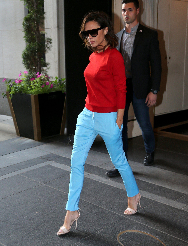 Victoria Beckham Gives a Pop Art Color Combination a Spin