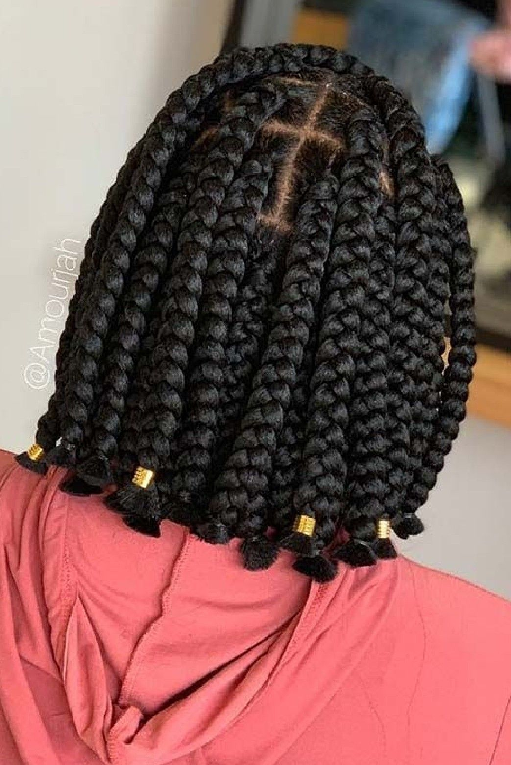 Short And Full Braids Hairstyles For Ladies Short Box Braids Hairstyles African Braids Hairstyles Short Box Braids