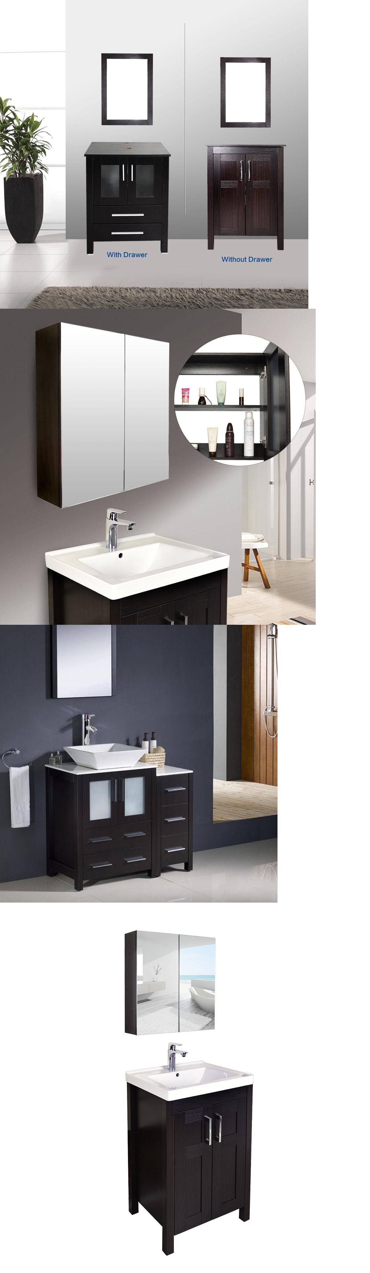Vanities Bathroom Vanity Top Cabinet Wood Bowl Vessel