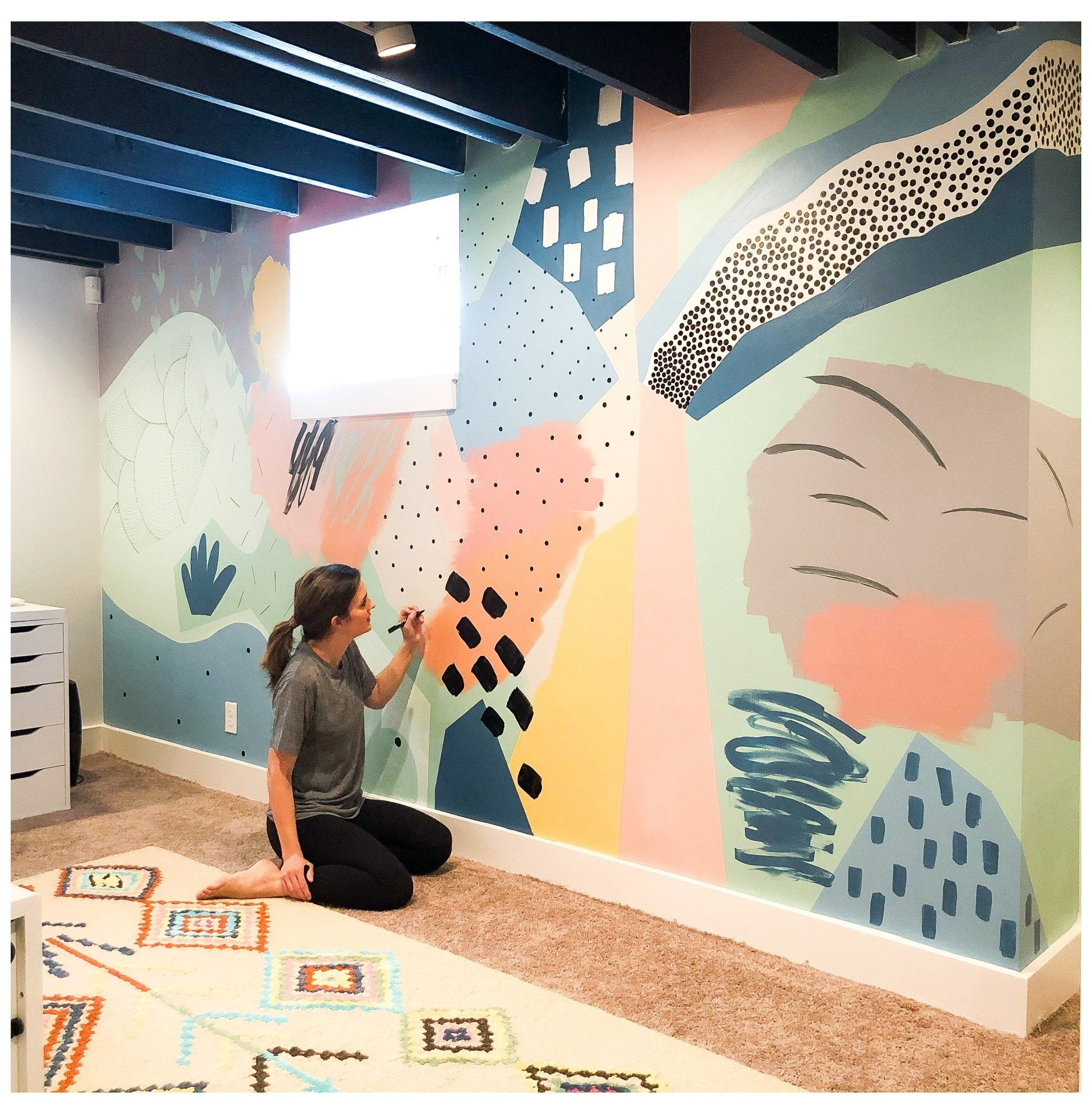 bright kids room paint Basement Playroom Reveal &