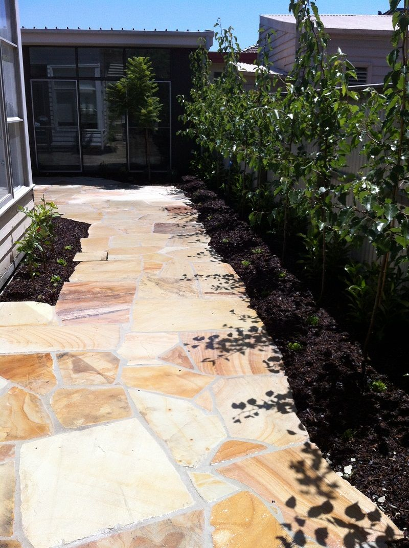 sandstone crazy paving driveways