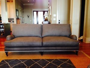 Custom Lee Industries 3477 11 Sofa Linen Upgraded With Down And Nailheads