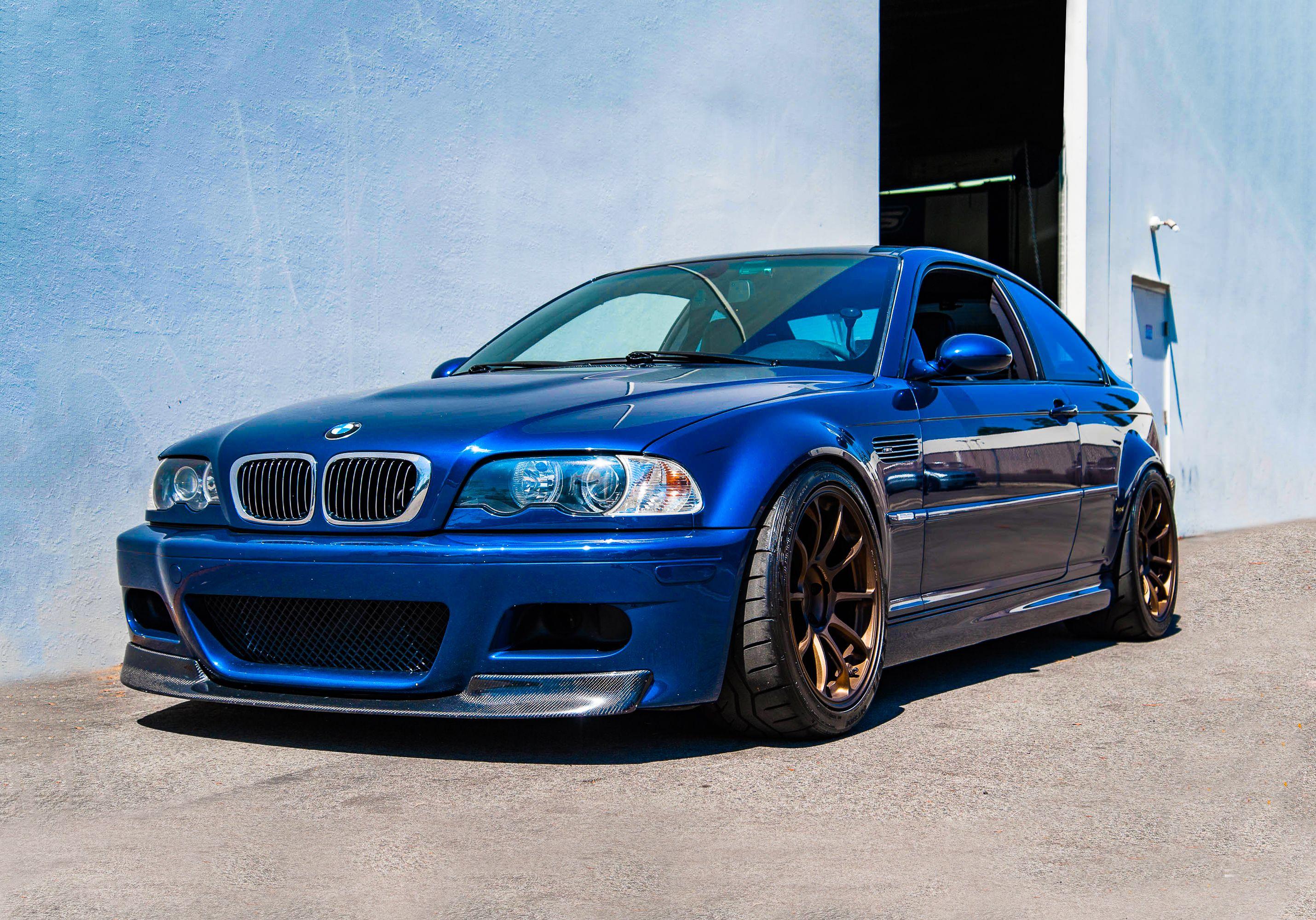 Clean Bmw E46 M3 Mpower Blue Car Racecar Racing Turbo