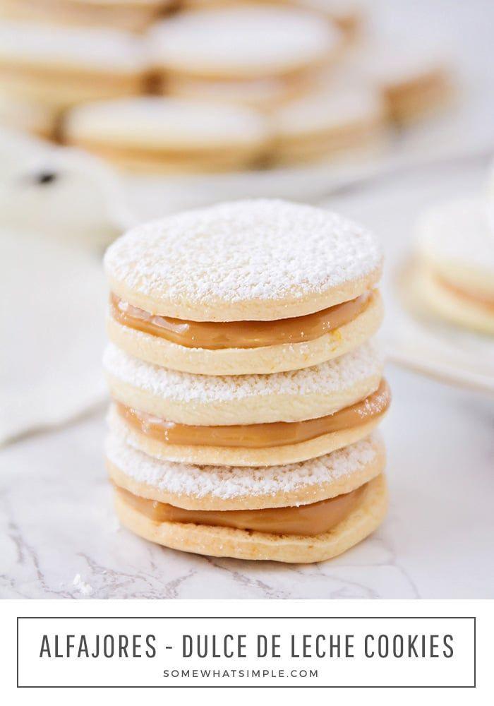 Easy Alfajores Recipe (Dulce de Leche Cookies)   Somewhat Simple