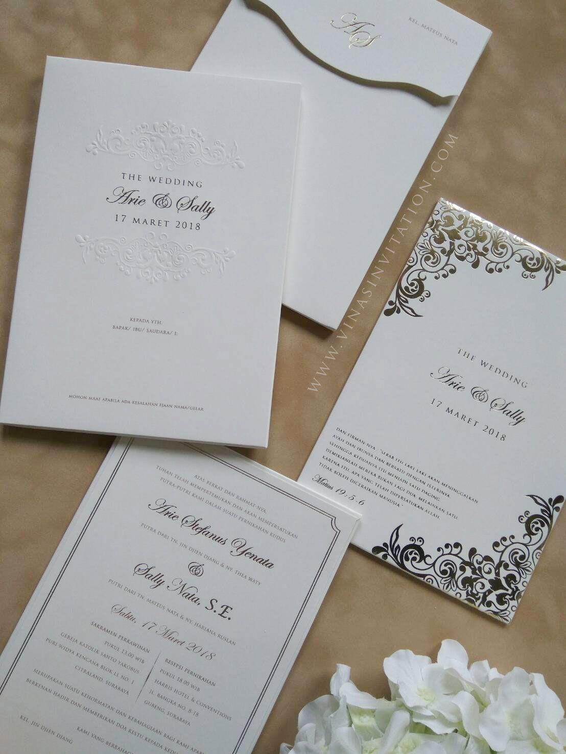 Vinas Invitation Sydney Wedding Invitation Indonesia Wedding Invitation Pure White Desain Undangan Perkawinan Contoh Undangan Pernikahan Undangan Pernikahan