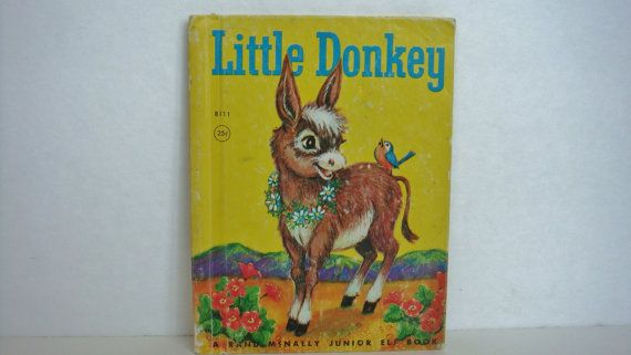 Vintage 1964 Little Donkey By Jessica Potter Broderick Illustrated By Jean Tamburine A Rand McNally Junior Elf Book on Etsy, $7.00 CAD