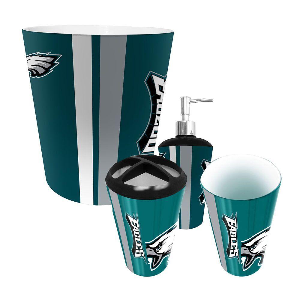 New! Philadelphia Eagles Complete Bathroom Accessories 4pc Set ...