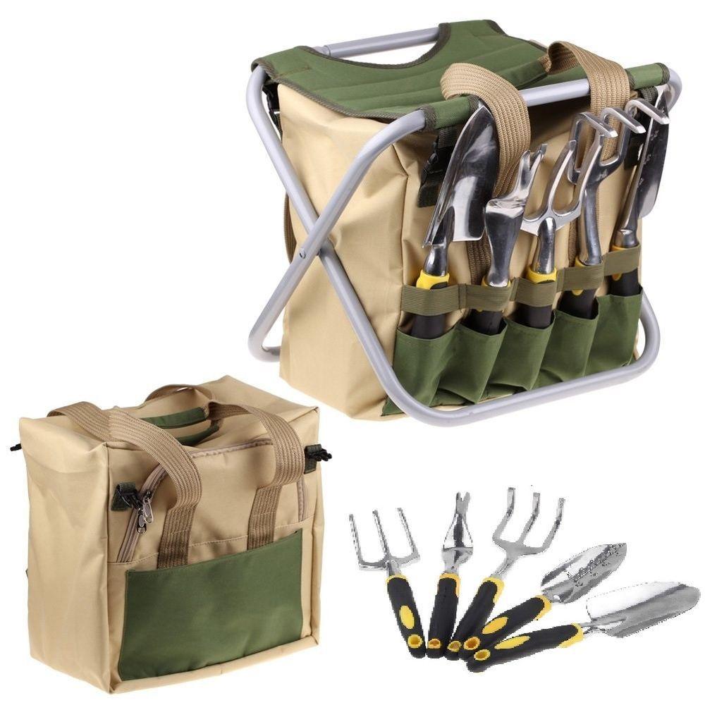 Garden Tools Set 7 Piece Gardening Tool Kit Cultivator Trowel Weeder