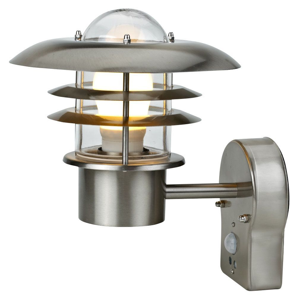Outdoor Security Lights B Q: Blooma Minos External PIR Wall Light