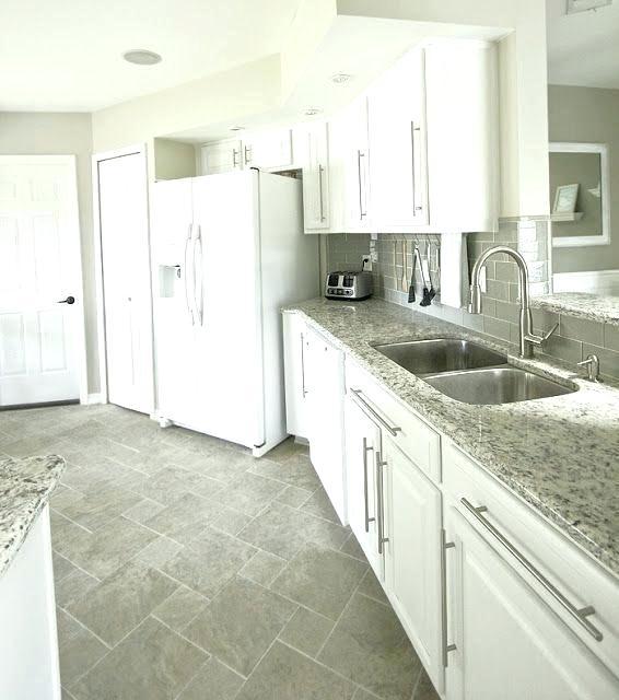 White Kitchen Grey Tile Floor Floor Tiles For White Kitchen