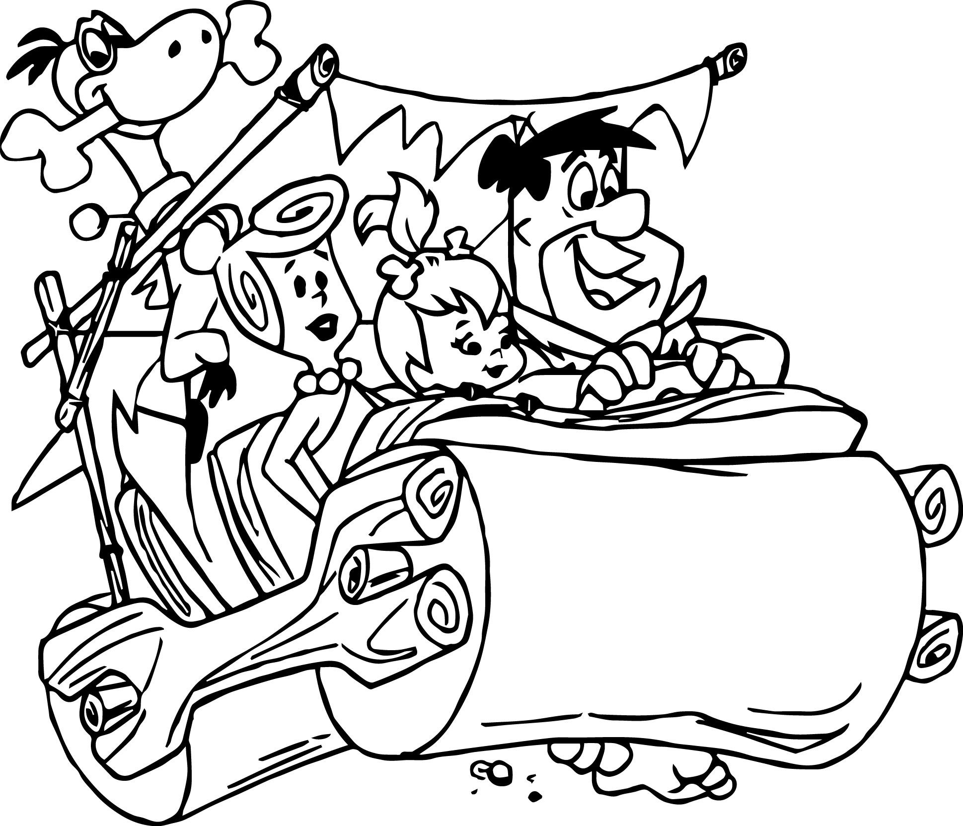 The Flintstones Coloring Pages Disney Coloring Pages Cartoon