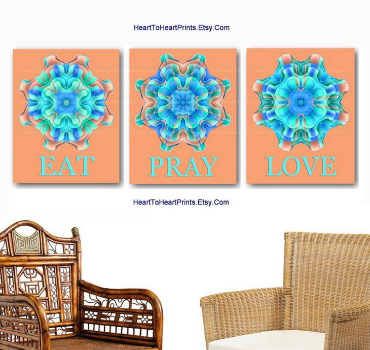 Turquoise Home Decor, Beach House Decor, Turquoise Kitchen Wall Art ...
