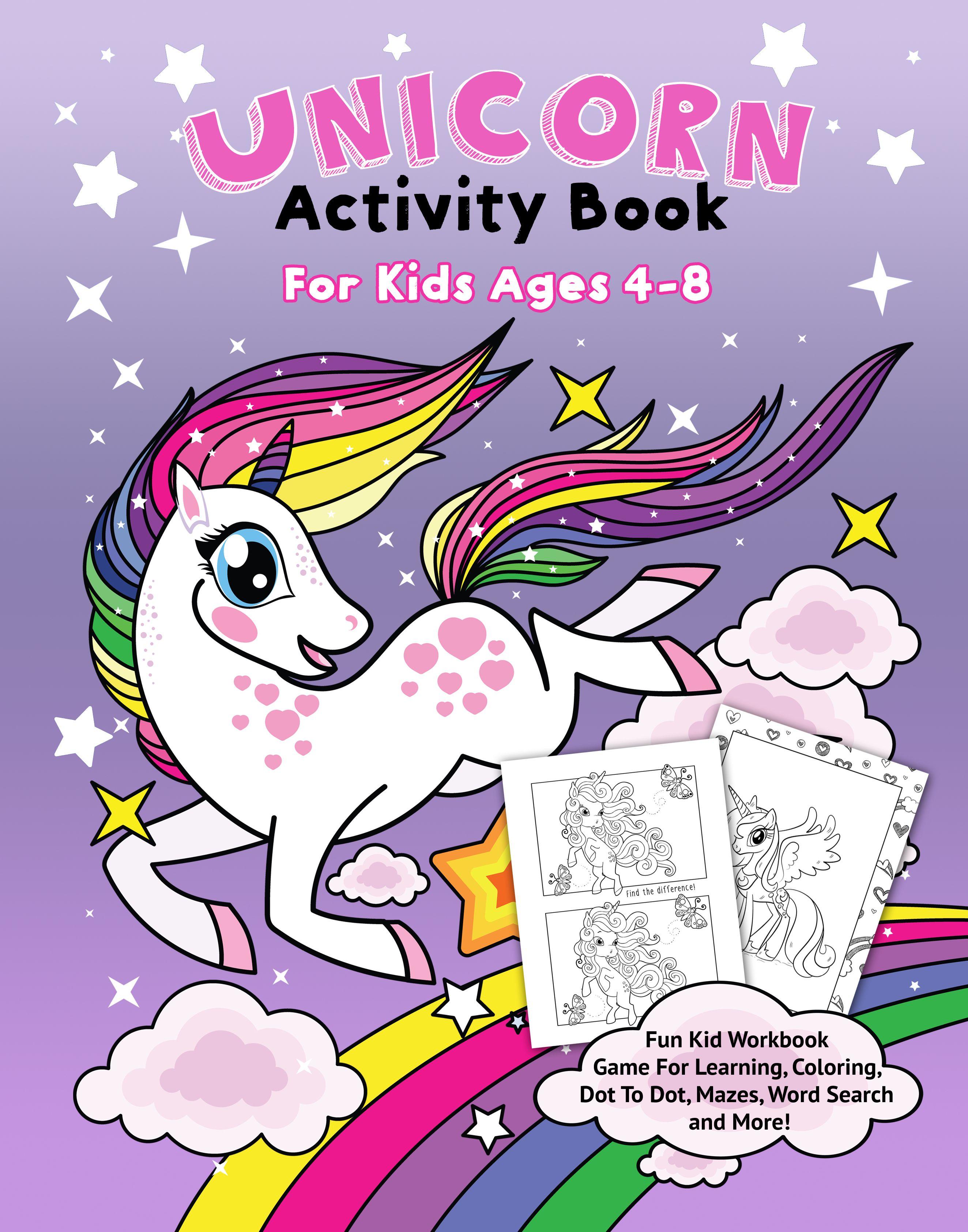 Unicorn Activity Book For Kids 4 8 Book Activities Unicorn Free Books Online