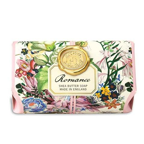 Gorgeous floral and gold seal packaging. // Romance Large Bath Soap Bar – BRIARWOOD