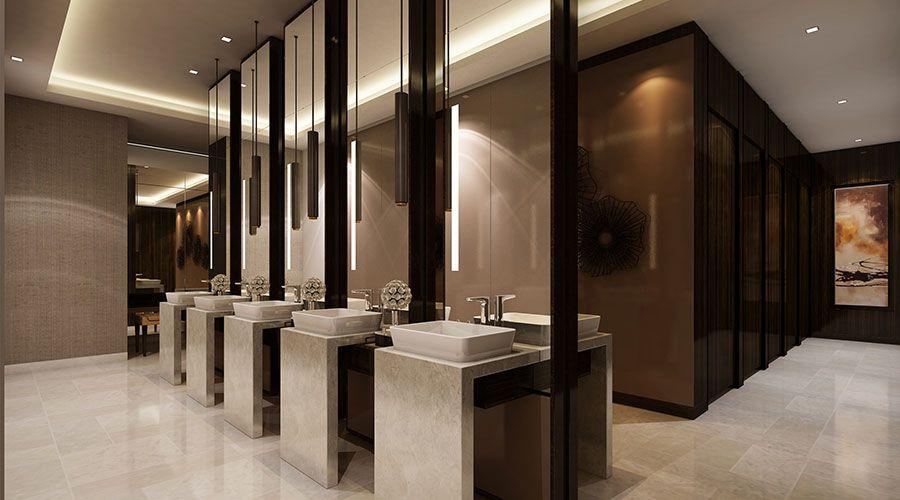 White Jacket Laguna Golf Resort Hotel Restroom Design