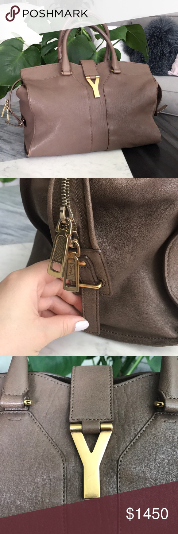 c6be47769250 💯Authentic Yves Saint Laurent BO CABAS CHYC Bag Large YSL leather (Calf)  Bag