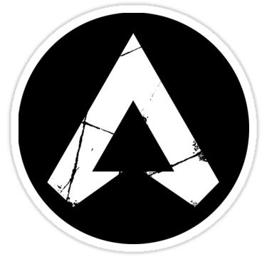 Apex Legends White Logo Sticker Apex Logo Logo Sticker Apex