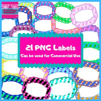 21 PNG Labels For Commercial Use