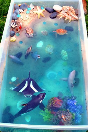 bac de la mer classe mer en maternelle jardin pour enfants jeu sensoriel et mer bricolage. Black Bedroom Furniture Sets. Home Design Ideas