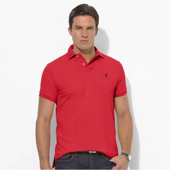 Polo Ralph Lauren Men Red Custom-Fit Mesh http://www.ralph