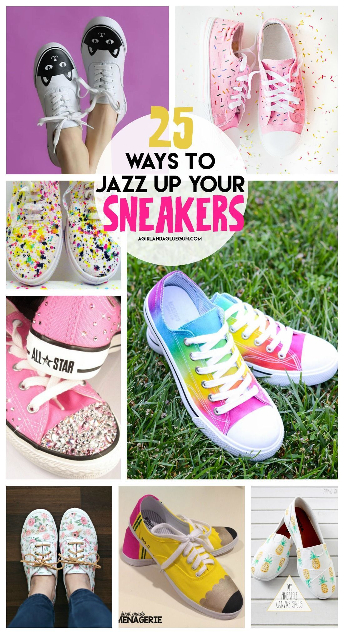 Fun ways to decorate your sneakers! Slik farger du sko, slips  How to dye shoes, Tie