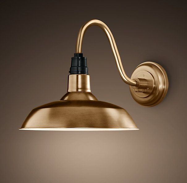 Vintage Barn Sconce Antique Brass Outdoor Wall Lamps Iron Wall Lighting Kitchen Sink Lighting